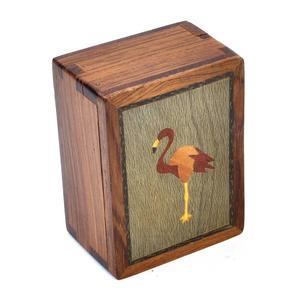 Flamingo Secret Marquetry Stash Box with Invisible Opening System 8 x 6 cm Thumbnail 4