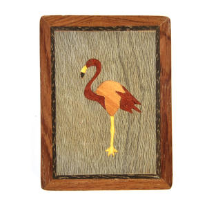 Flamingo Secret Marquetry Stash Box with Invisible Opening System 8 x 6 cm Thumbnail 5