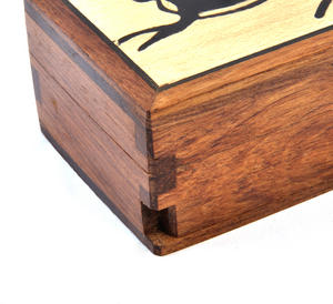 Hare Secret Marquetry Stash Box with Invisible Opening System 8 x 6 cm Thumbnail 3