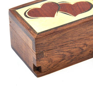 Lovehearts Secret Marquetry Stash Box with Invisible Opening System 6 x 6 cm Thumbnail 3