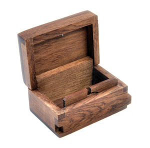 Lovehearts Secret Marquetry Stash Box with Invisible Opening System 6 x 6 cm Thumbnail 4