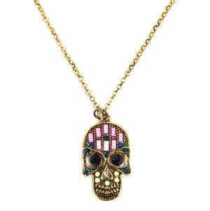 Sugar Skull Necklace - Random Colour Thumbnail 1