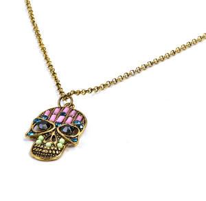 Sugar Skull Necklace - Random Colour Thumbnail 2