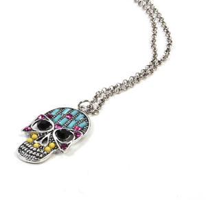 Sugar Skull Necklace - Random Colour Thumbnail 4