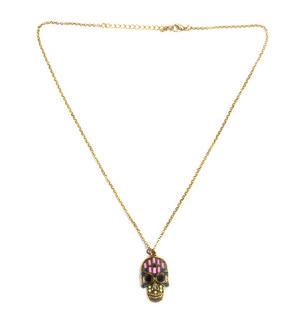 Sugar Skull Necklace - Random Colour Thumbnail 5