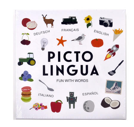 Picto Lingua  - The Family Game of Language Fun in Five Languages - Deutsch, Français, English, Italiano & Español