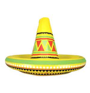 Olé - Giant Inflatable Sombrero - Party Hat & Drinks Cooler Thumbnail 1