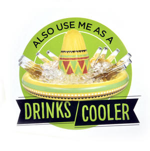 Olé - Giant Inflatable Sombrero - Party Hat & Drinks Cooler Thumbnail 2
