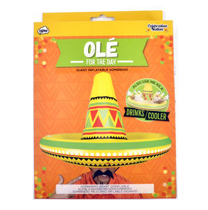 Olé - Giant Inflatable Sombrero - Party Hat & Drinks Cooler Thumbnail 4