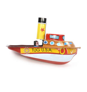 Tug Boat Pop Pop Boat  - Classic Candle Powered Tin Toy