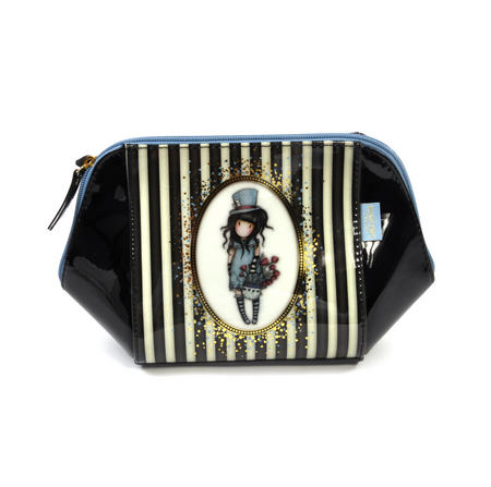 The Hatter Large Structured Accessory Case - Gorjuss Stripes