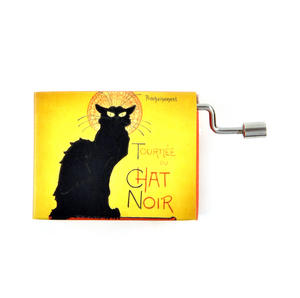 Art Music Box - French Can Can /Chat Noir Rodolphe Salis Cabaret Artistique Thumbnail 1