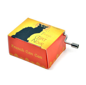 Art Music Box - French Can Can /Chat Noir Rodolphe Salis Cabaret Artistique Thumbnail 2