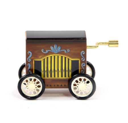 Edelweiss - Handcrank Music Box - Hurdy Gurdy on Wheels