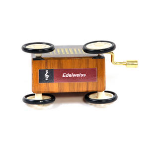 Edelweiss - Handcrank Music Box - Hurdy Gurdy on Wheels Thumbnail 3