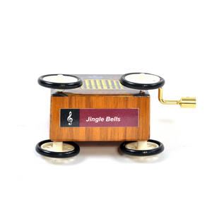 Jingle Bells  - Handcrank Music Box - Hurdy Gurdy on Wheels