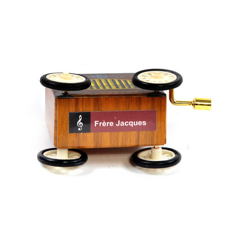 Frère Jacques  - Handcrank Music Box - Hurdy Gurdy on Wheels