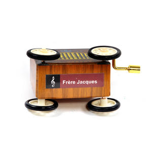 Frère Jacques  - Handcrank Music Box - Hurdy Gurdy on Wheels Thumbnail 1