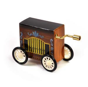 Frère Jacques  - Handcrank Music Box - Hurdy Gurdy on Wheels Thumbnail 3