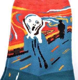 Edvard Munch The Scream Ankle Socks - Cotton / Spandex