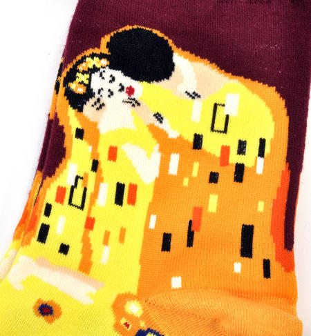 Gustav Klimt The Kiss Ankle Socks - Cotton / Spandex