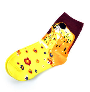 Gustav Klimt The Kiss Ankle Socks - Cotton / Spandex Thumbnail 2