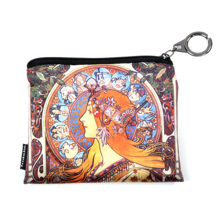 Alphonse Mucha Zodiac Art Deco Zipper Purse