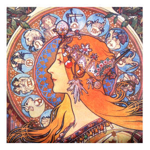 Alphonse Mucha Zodiac Art Deco Zipper Purse Thumbnail 2