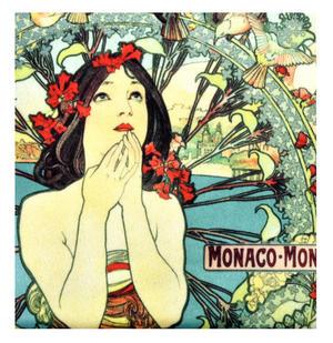 Alphonse Mucha Monaco / Monte Carlo Art Deco Zipper Purse Thumbnail 2