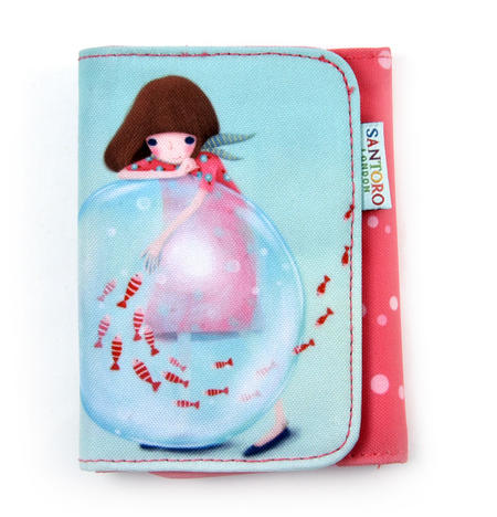 Little Fishes - Double Fold Wallet By Kori Kumi