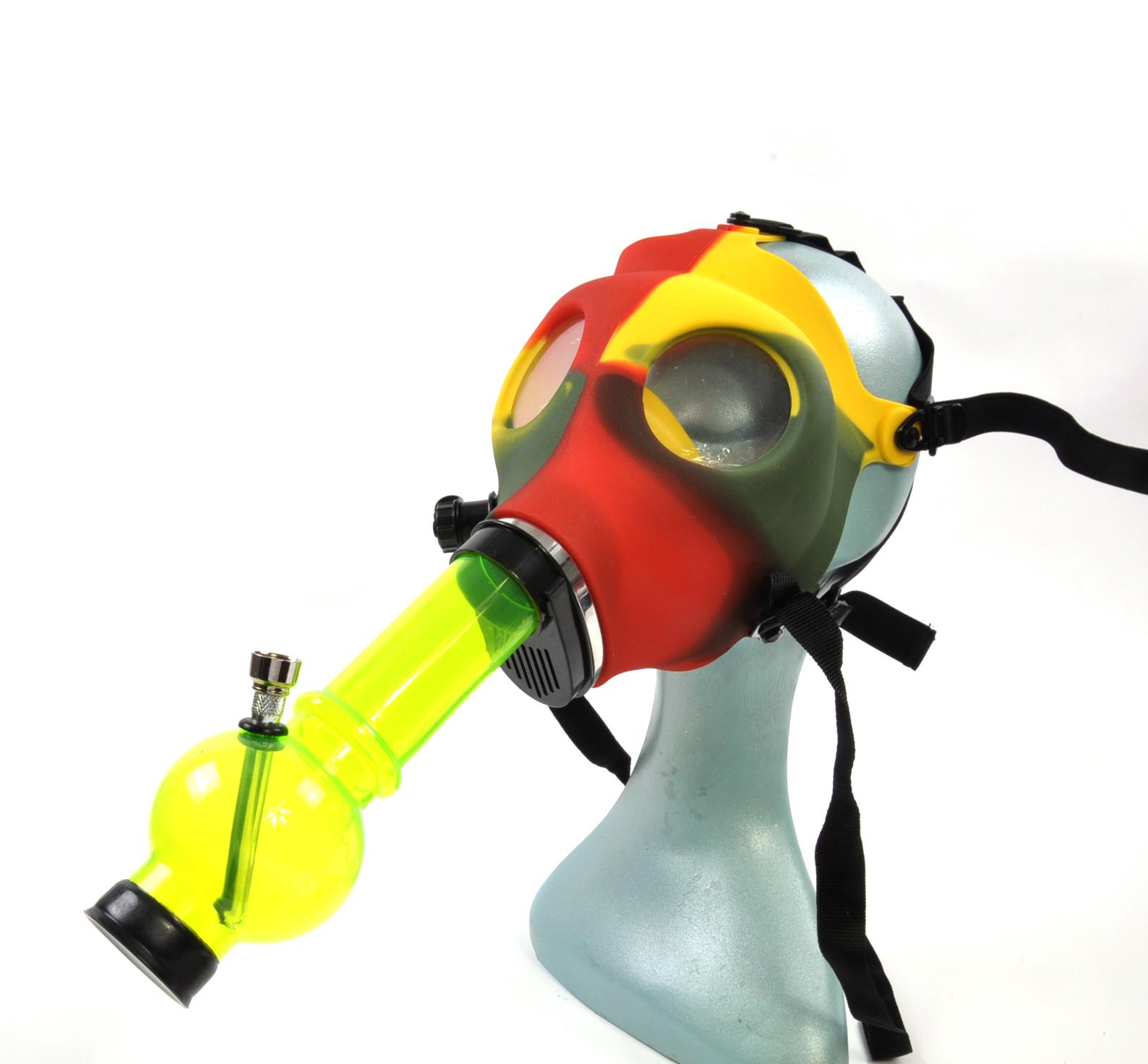 Rasta Gas Mask Bong