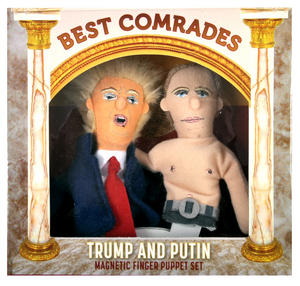 "Trump & Putin ""Best Comrades"" Finger Puppet Set Thumbnail 1"