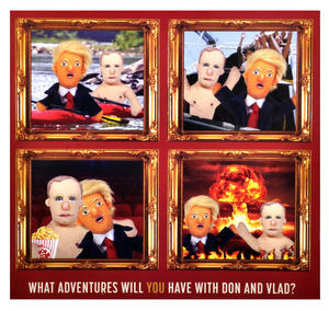 "Trump & Putin ""Best Comrades"" Finger Puppet Set Thumbnail 2"