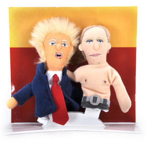 "Trump & Putin ""Best Comrades"" Finger Puppet Set Thumbnail 3"