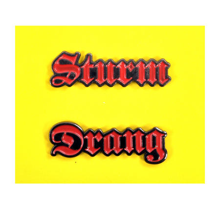 Sturm Drang Twin Pin Set - Badge / Pin / Lapel Pin by Unemployed Philosophers Guild