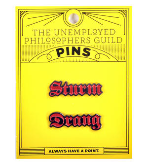Sturm Drang Twin Pin Set - Badge / Pin / Lapel Pin by Unemployed Philosophers Guild Thumbnail 2