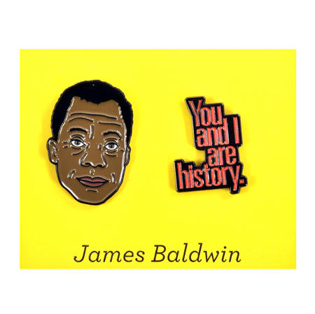 James Baldwin & History Twin Pin Set - Badge / Pin / Lapel Pin by Unemployed Philosophers Guild