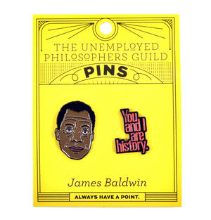 James Baldwin & History Twin Pin Set - Badge / Pin / Lapel Pin by Unemployed Philosophers Guild Thumbnail 2