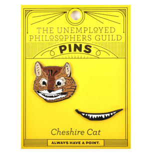 Cheshire Cat & Smile Twin Pin Set - Badge / Pin / Lapel Pin by Unemployed Philosophers Guild Thumbnail 2