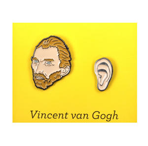 Vincent Van Gogh & Ear Twin Pin Set - Badge / Pin / Lapel Pin by Unemployed Philosophers Guild