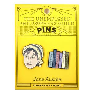 Jane Austen & Novels Twin Pin Set - Badge / Pin / Lapel Pin by Unemployed Philosophers Guild Thumbnail 2