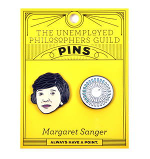 Margaret Sanger & The Pill Twin Pin Set - Badge / Pin / Lapel Pin by Unemployed Philosophers Guild Thumbnail 2