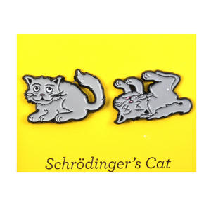 Schrödinger's Cat Twin Pin Set - Badge / Pin / Lapel Pin by Unemployed Philosophers Guild