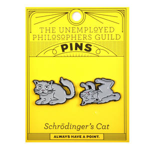 Schrödinger's Cat Twin Pin Set - Badge / Pin / Lapel Pin by Unemployed Philosophers Guild Thumbnail 2