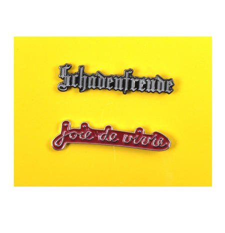 Schadenfreude / Joie de vivre  Twin Pin Set - Badge / Pin / Lapel Pin by Unemployed Philosophers Guild