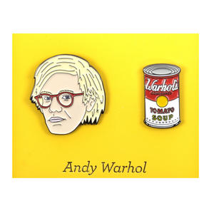 Andy Warhol Twin Pin Set - Badge / Pin / Lapel Pin by Unemployed Philosophers Guild