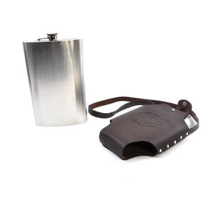 Travel Wine Flask and Holster - Let The Adventure Begin