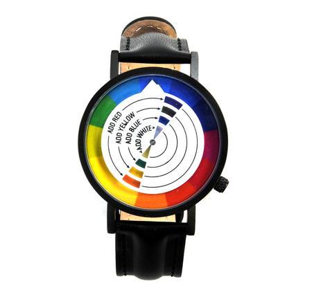 Color / Colour Wheel Watch - The Wristwatch For Colourists, Painters, Interior Designers