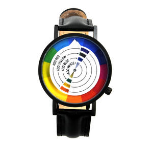 Color / Colour Wheel Watch - The Wristwatch For Colourists, Painters, Interior Designers