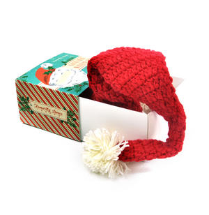 Knitted Santa Claus Hat with Detachable Beard